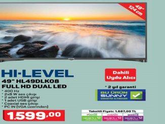 A101 Hi-Level 49″ HL49DLK08 Full Hd Dual Led Tv Yorumları ve Özellikleri