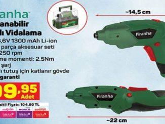 A101 Piranha Katlanabilir Şarjlı Vidalama Yorumları ve Özellikleri