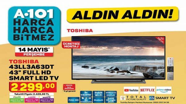 A101 Toshiba 43LL3A63DT 43″ Full Hd Smart Led Tv Yorumları ve Özellikleri